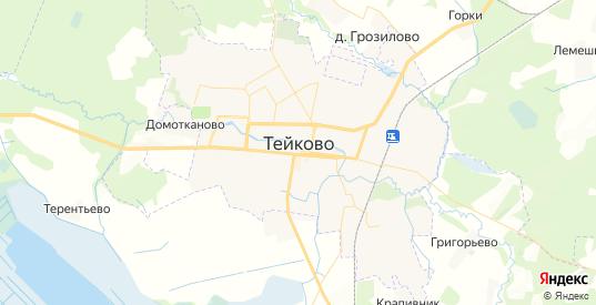 Карта Тейково с улицами и домами подробная. Показать со спутника номера домов онлайн