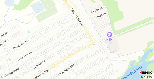 Дачная Малая улица в Мичуринске с номерами домов на карте. Спутник и схема онлайн