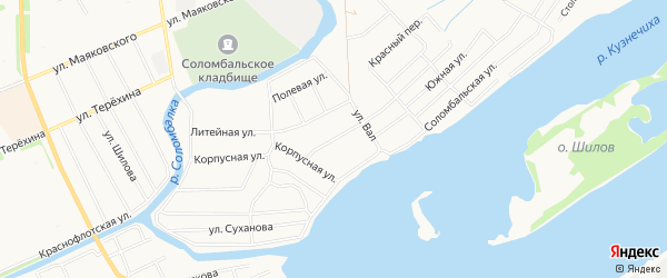 ГСК Чайка на карте улицы Связистов с номерами домов