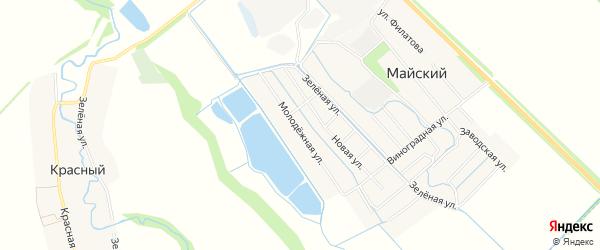 Карта хутора Чехрака в Адыгее с улицами и номерами домов