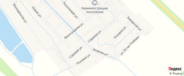 Садовая улица на карте Майского поселка Адыгеи с номерами домов