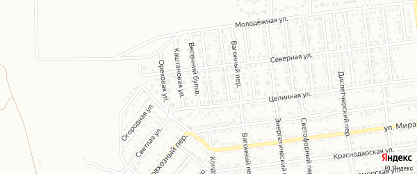 1 Целинный проезд на карте Кропоткина с номерами домов