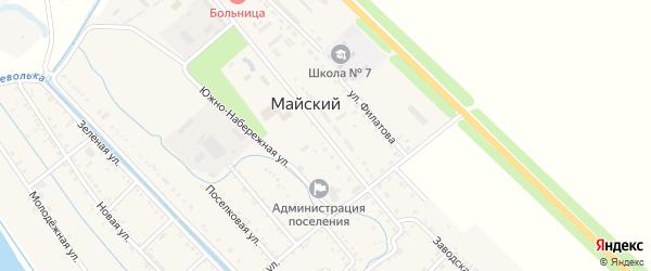 Заводская улица на карте Майского поселка Адыгеи с номерами домов