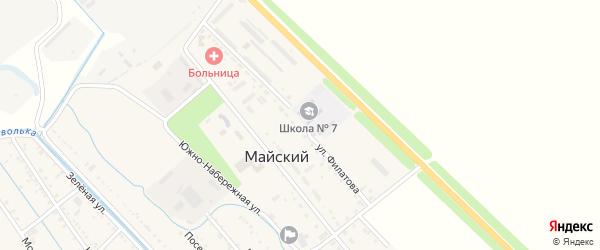 Улица Филатова на карте Майского поселка Адыгеи с номерами домов