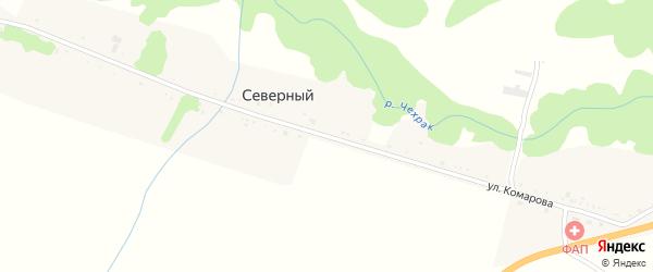 Улица Комарова на карте Северного хутора Краснодарского края с номерами домов