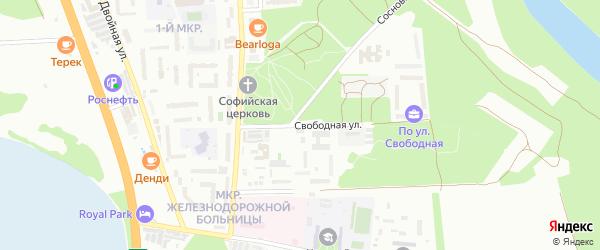 Свободная улица на карте Кропоткина с номерами домов