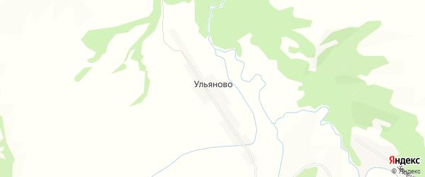 Карта хутора Ульяново в Краснодарском крае с улицами и номерами домов