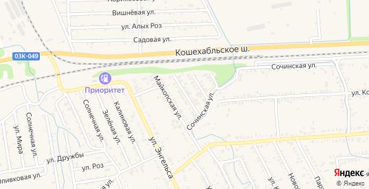 Майская улица в Курганинске с номерами домов на карте. Спутник и схема онлайн