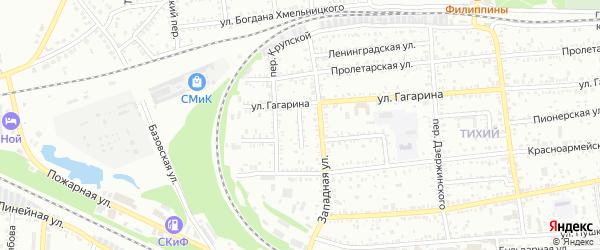 Транспортный переулок на карте Кропоткина с номерами домов