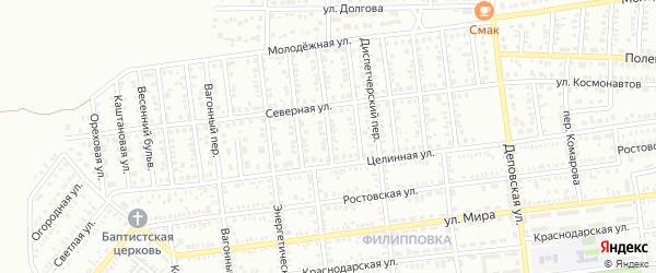 6 Целинный проезд на карте Кропоткина с номерами домов