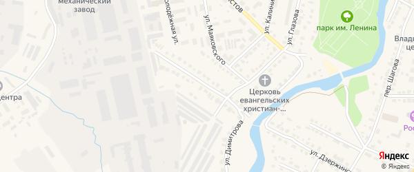 Улица Димитрова на карте Нерехты с номерами домов