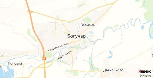 Карта Богучара с улицами и домами подробная. Показать со спутника номера домов онлайн