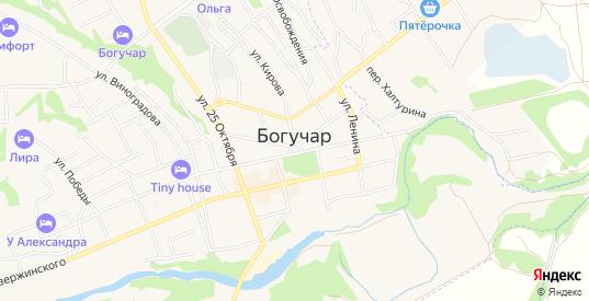 ГСК Лада на карте Богучара с номерами домов