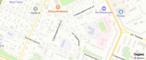 Улица Стрелковая 7 Проезд на карте Архангельска с номерами домов