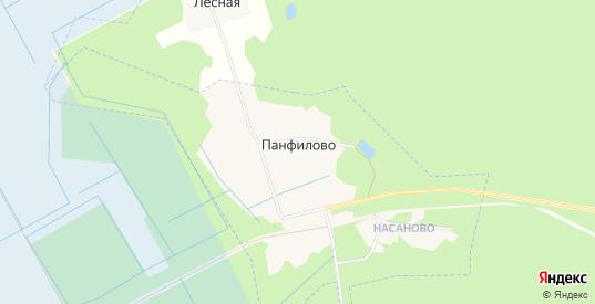 Карта поселка Панфилово в Гусе-Хрустальном с улицами, домами и почтовыми отделениями со спутника онлайн
