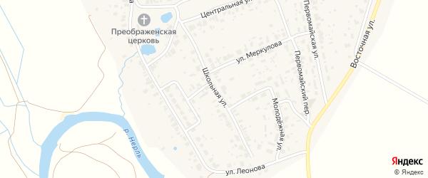 Школьная улица на карте Добрынского села Владимирской области с номерами домов
