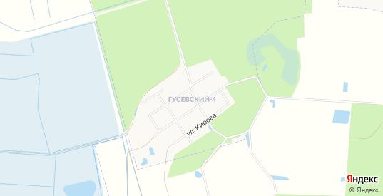 Карта поселка Гусевский-4 в Гусе-Хрустальном с улицами, домами и почтовыми отделениями со спутника онлайн