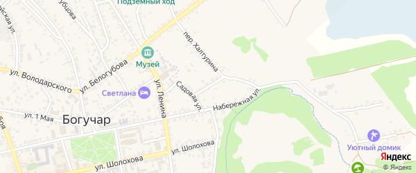 Садовая улица на карте села Залимана Воронежской области с номерами домов