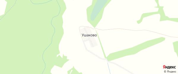 Территория объекта 15-155-3 на карте деревни Ушаково Ивановской области с номерами домов