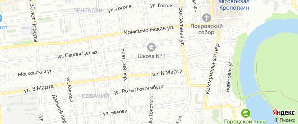 Улица Л.Толстого на карте Кропоткина с номерами домов