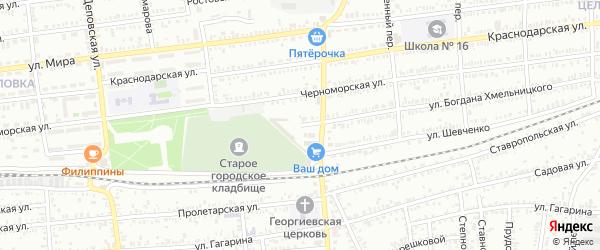Улица Б.Хмельницкого на карте Кропоткина с номерами домов