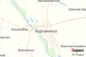 Карта г. Курганинск Краснодарский край