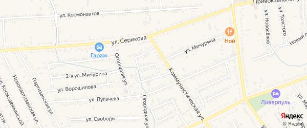 Улица Надежд на карте Курганинска с номерами домов