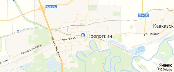 Карта Кропоткина с районами, улицами и номерами домов