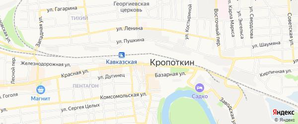 Территория Здоровье садоводческое товарищество на карте Кропоткина с номерами домов