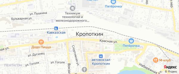Донская улица на карте Кропоткина с номерами домов