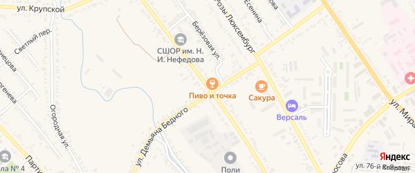 Коммунистическая улица на карте Курганинска с номерами домов