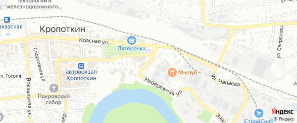 Обрывной переулок на карте Кропоткина с номерами домов