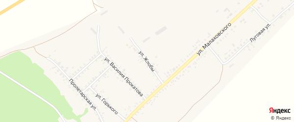 Улица Жлобы на карте села Залимана Воронежской области с номерами домов