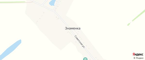 Советская улица на карте села Знаменки Тамбовской области с номерами домов