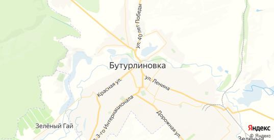Карта Бутурлиновки с улицами и домами подробная. Показать со спутника номера домов онлайн