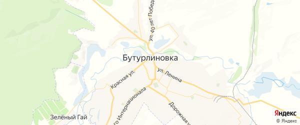 Карта Бутурлиновки с районами, улицами и номерами домов