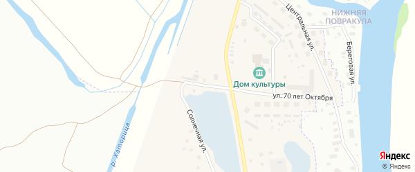 Автодорожный проезд на карте Повракульской деревни с номерами домов