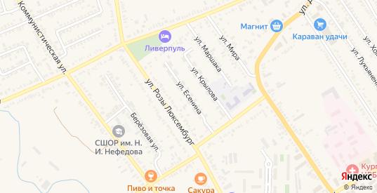 Улица Есенина в Курганинске с номерами домов на карте. Спутник и схема онлайн