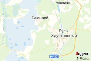 Карта г. Гусь-Хрустальный Владимирская область