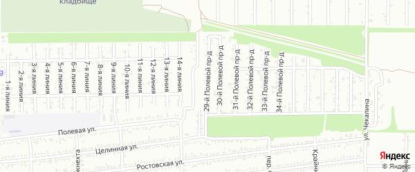 29 Полевой проезд на карте Кропоткина с номерами домов