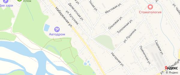 Улица Кутузова на карте Курганинска с номерами домов