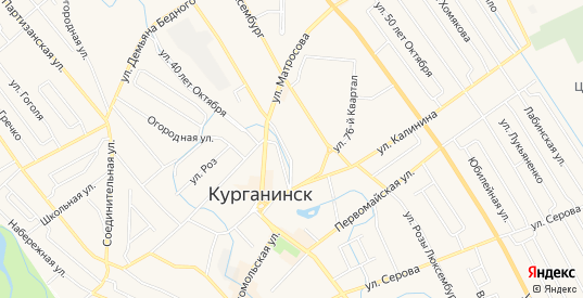 Карта садового некоммерческого товарищества Весна в Курганинске с улицами, домами и почтовыми отделениями со спутника онлайн