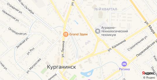 Площадь Петра и Павла в Курганинске с номерами домов на карте. Спутник и схема онлайн