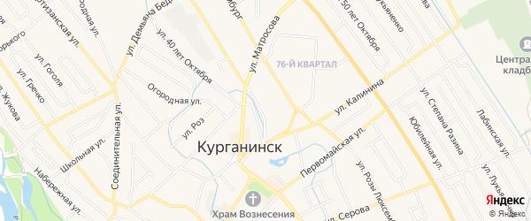 Карта садового некоммерческого товарищества Агронома города Курганинска в Краснодарском крае с улицами и номерами домов