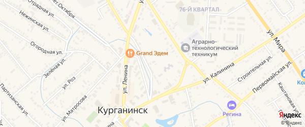 Улица Пахайло на карте Курганинска с номерами домов