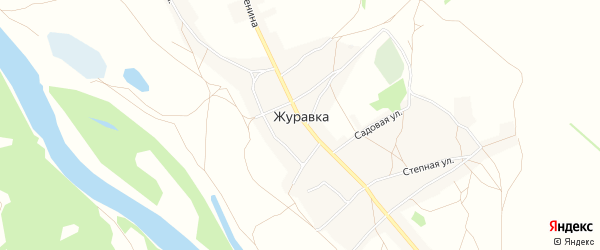 Карта села Журавки в Воронежской области с улицами и номерами домов