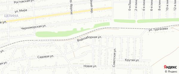 Водозаборная улица на карте Кропоткина с номерами домов