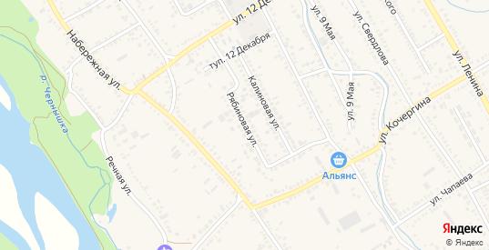 Рябиновая улица в Курганинске с номерами домов на карте. Спутник и схема онлайн
