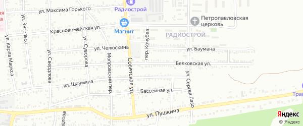 Белковская улица на карте Кропоткина с номерами домов