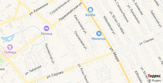 Платановая улица в Курганинске с номерами домов на карте. Спутник и схема онлайн